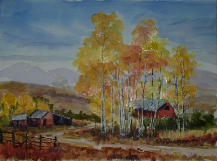 Autumn Gold (SOLD) - 2006 Holbein Watercolor Award Recipient