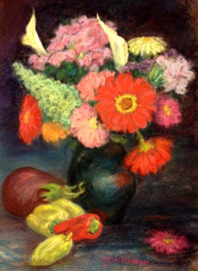 Daisies and Peppers - Pastel